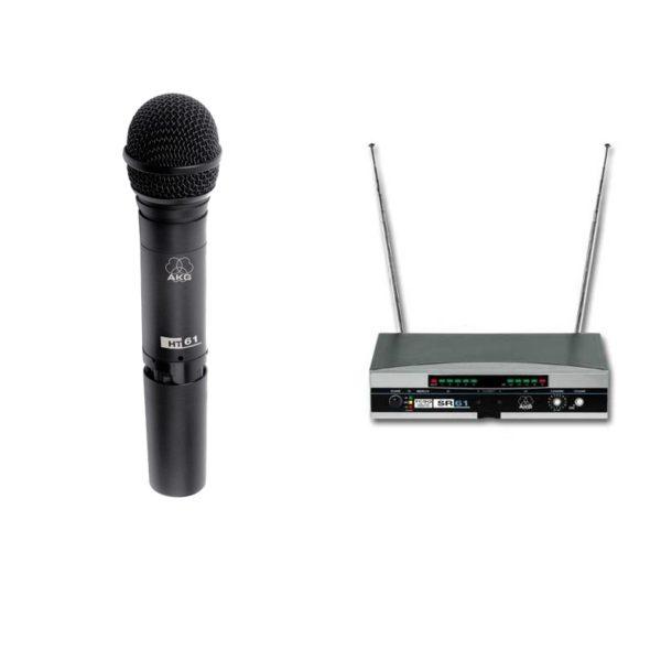RADIOMICROFONO AKG WMS 61 VHF HT61 + SR61 Wireless GELATO