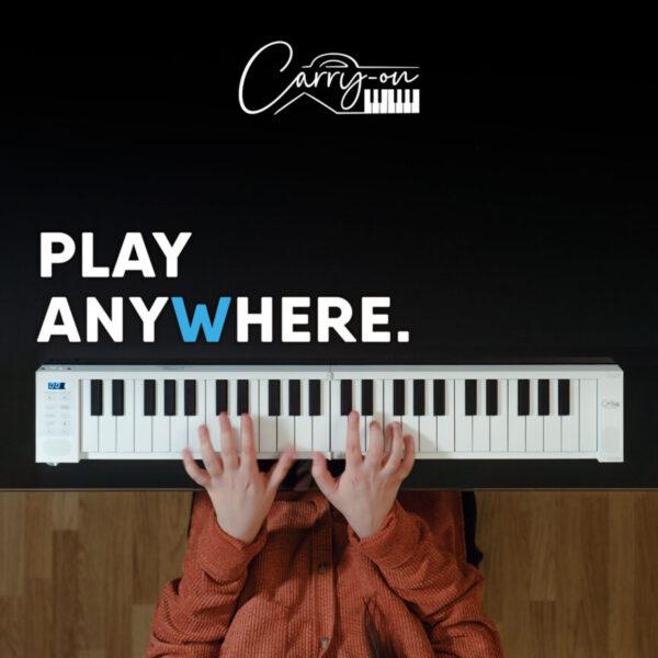 Tastiera Carry On FOLDING Piano ROLL 49 TASTI DA STUDIO (1)